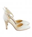 Pantofi Decupati Bej Cu Toc Diane Marie