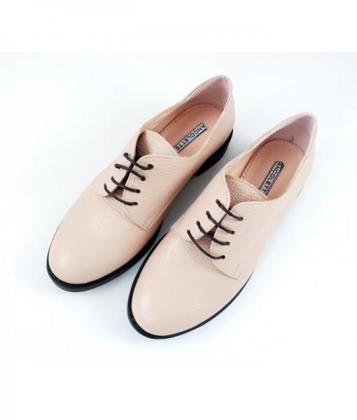 mocasini-crem-nude-pantofi-cu-siret-piele-naturala