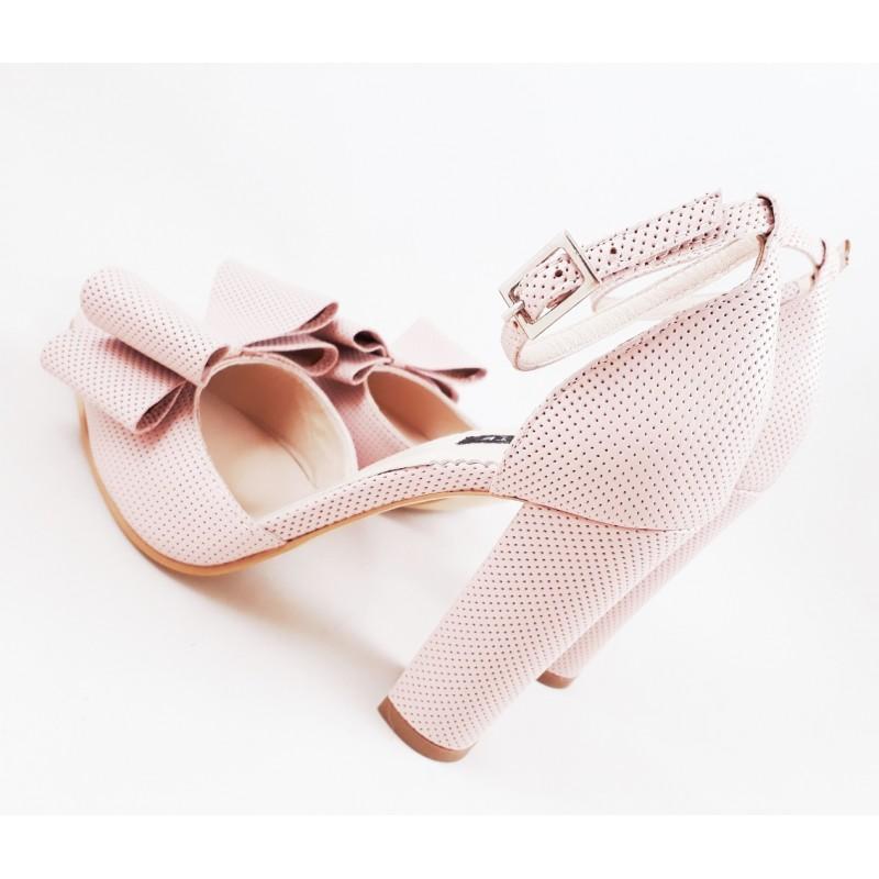 Pantofi Din Piele Naturala Roz Pudra Chloe Noi9