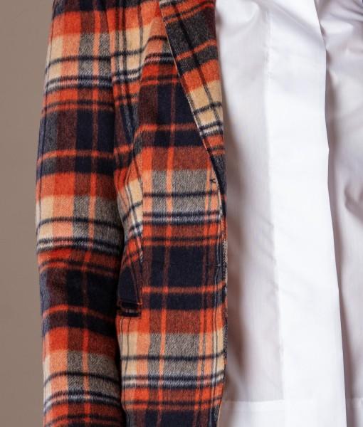 Sacou din lana in carouri (2)
