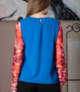 bluza albastra cu maneci de matase (1)