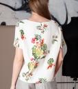 bluza casual cu imprimeu floral (1)