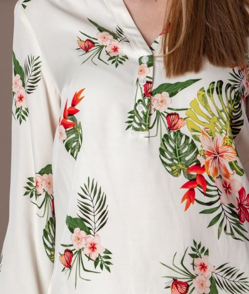 bluza casual din vascoza imprimata (1)