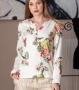 bluza casual din vascoza imprimata (2)