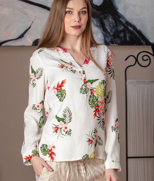 bluza casual din vascoza imprimata (3)