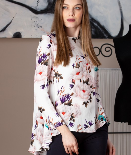 bluza casual din vascoza imprimata (5)