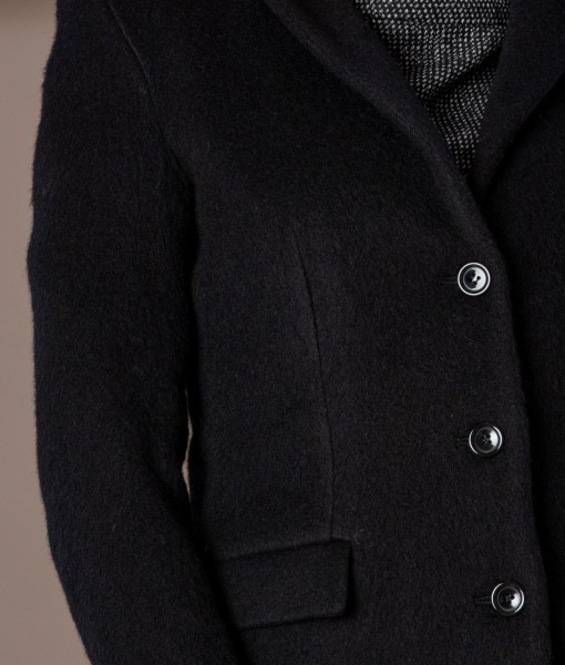 palton negru din lana (4)