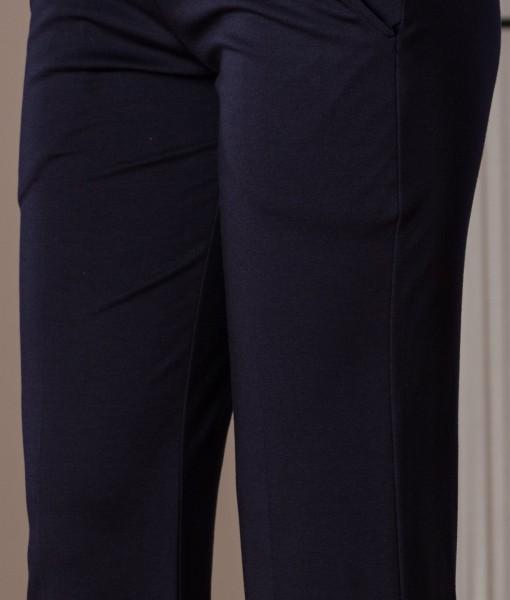 pantalon usor evazat din tricot elastic (1)