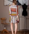 rochie casual cu dungi colorate (1)
