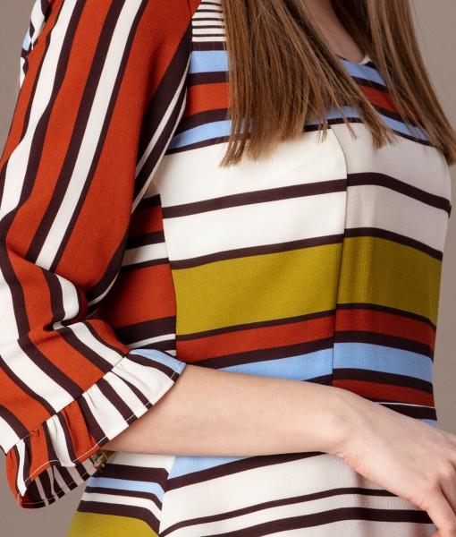 rochie casual cu dungi colorate (4)