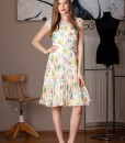 rochie de zi din voal imprimat (2)
