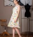 rochie de zi din voal imprimat (4)