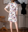 rochie dreapta cu imprimeu floral (1)