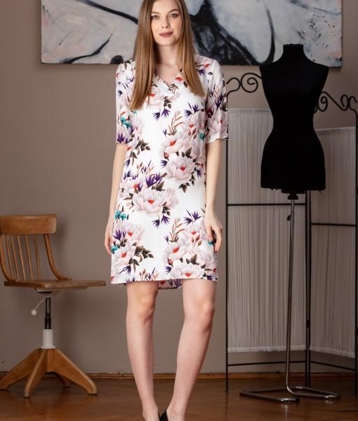 rochie dreapta cu imprimeu floral (2)
