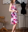 rochie eleganta din voal imprimat (2)