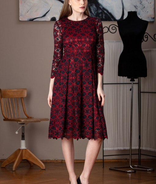 rochie midi din dantela (4)