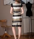 rochie office cu imprimeu dungi (1)