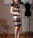 rochie office cu imprimeu dungi (3)