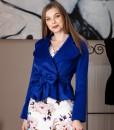 sacou elegant din lana albastra (3)