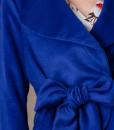 sacou elegant din lana albastra (4)