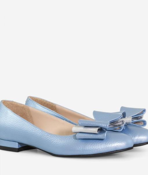 balerini-din-piele-naturala-bleu-cu-funda-darling-14219-4
