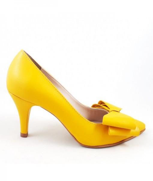 kittens-pantofi-toc-mic-galben-piele-naturala