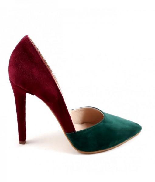 rise-pantofi-bordeaux-verde-piele-naturala