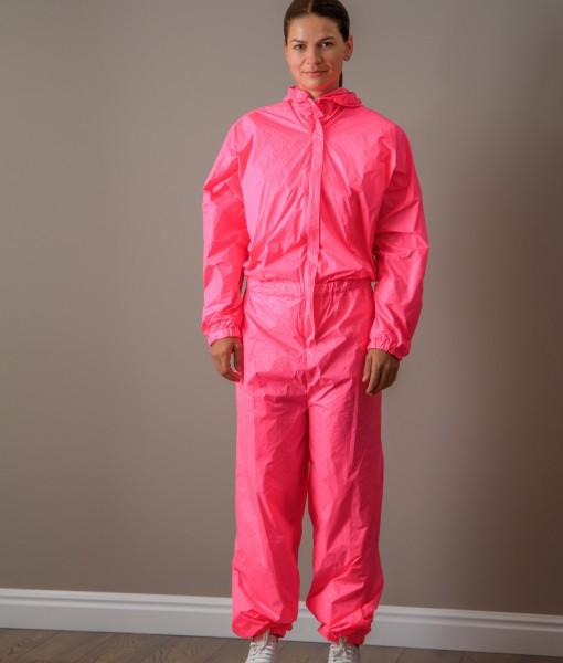 combinezon din fas impermeabil roz (2)