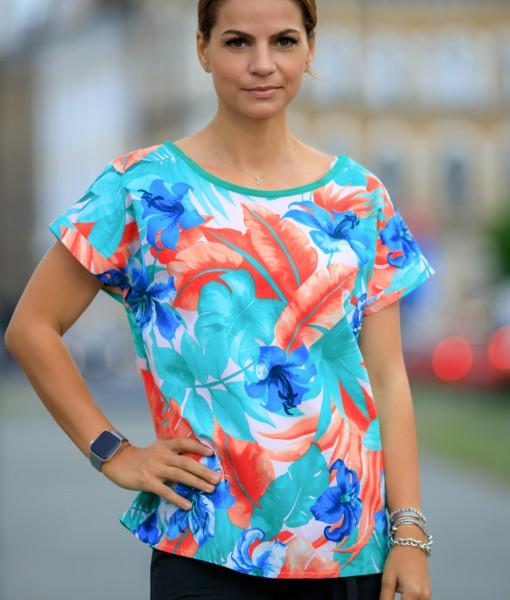 Tricou-Dama-Drept-Colorat