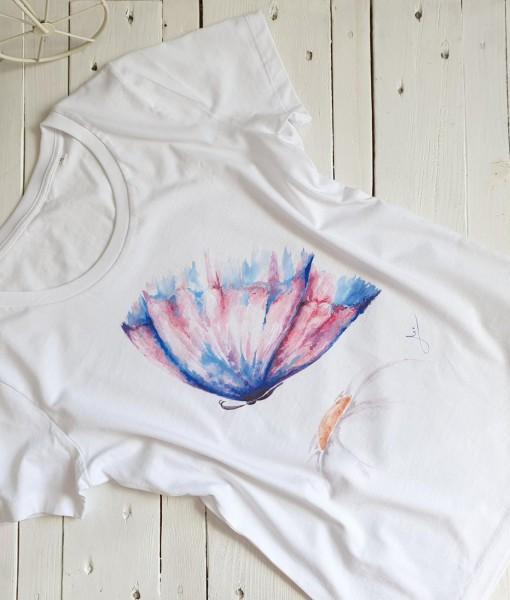 tricou-bumbac-pictat-fluture