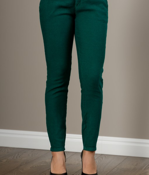 Pantalon Verde Conic Din In