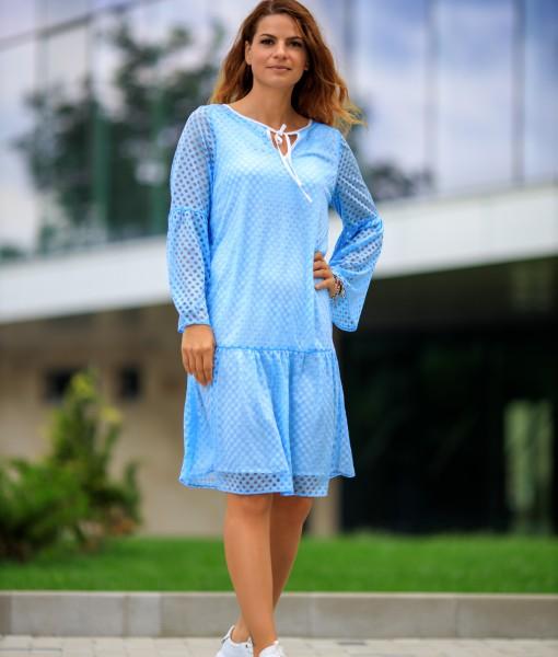 Rochie-Bleu-Cu-Talie-Joasa