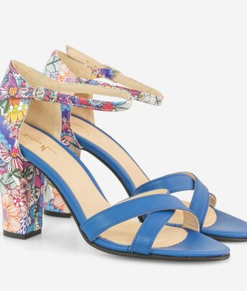 Sandale Dama Din Piele Naturala Albastra