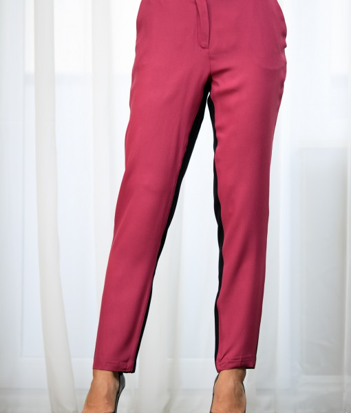 Pantaloni-Dama-Roz-Si-Negru