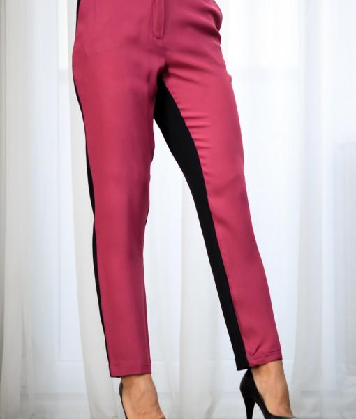 Pantaloni-Dama-Elastici-Roz-Si-Negru