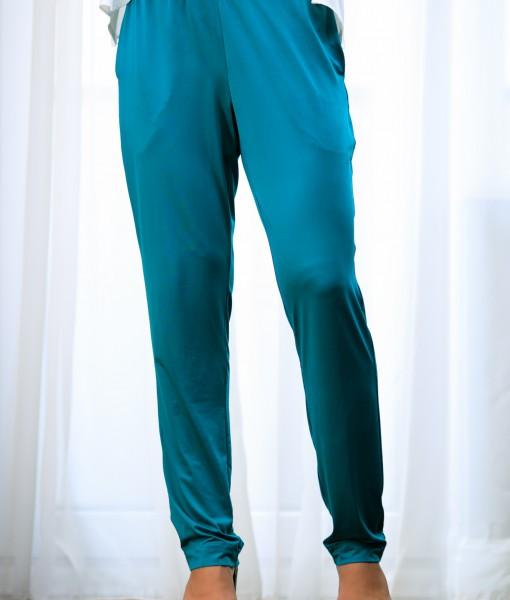 Pantaloni-Dama-Din-Lycra-Turcoaz