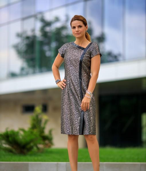 Rochie-Midi-Eleganta-Argintie