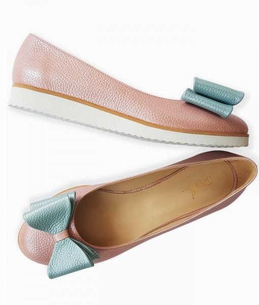 Balerini-casual-roz-cu-fundita