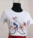 Tricou-Bumbac-Alb-Cu-Imprimeu-Fata-Cu-Bicicleta