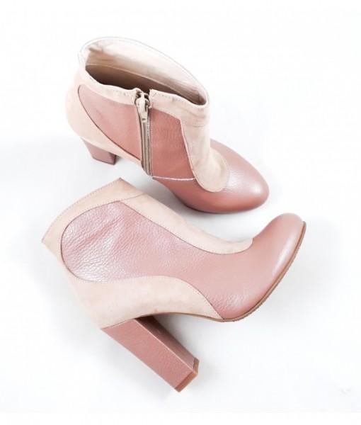 Botine-Elegante-Roz-Deschis