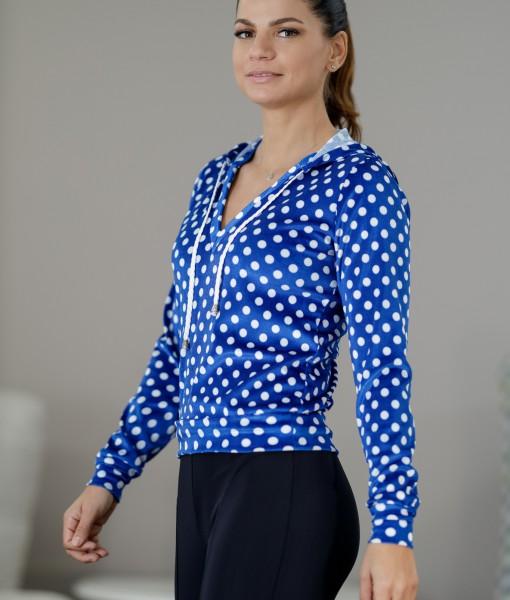Bluza-Dama-Catifea-Albastra