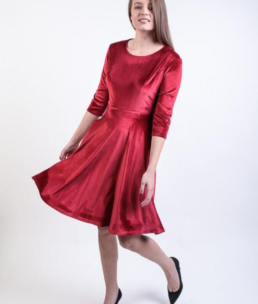 rochie-rosie-catifea (3)