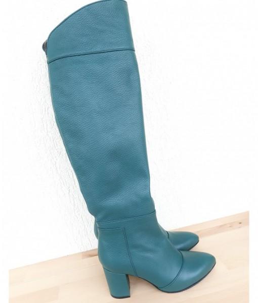 myra-cizme-lungi-verzi-piele-naturala