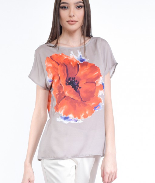 Bluza vascoza, Impreza , imprimeu maci (9)