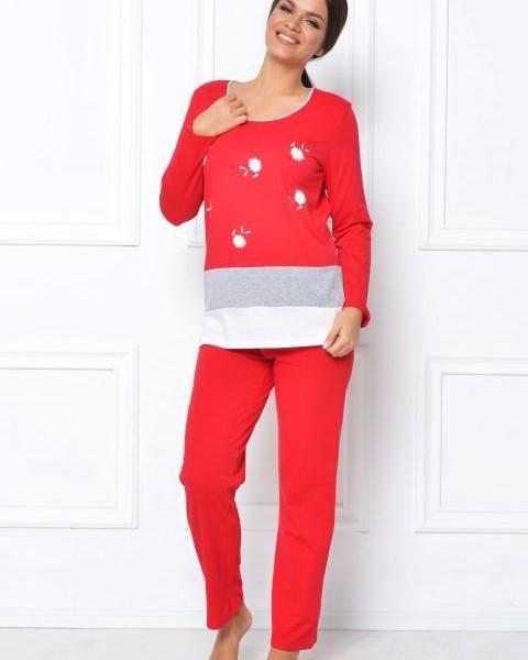 Pijama-Dama-Bumbac-Romanesti