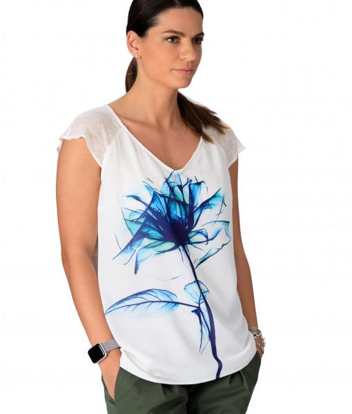Tricou-Dama-Bumbac-Imprimeu-Floral