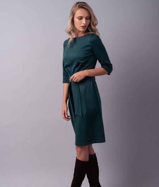 rochie-bumbac-verde-pliuri-alyssa2