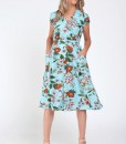 Rochie turquoise floral, Tania