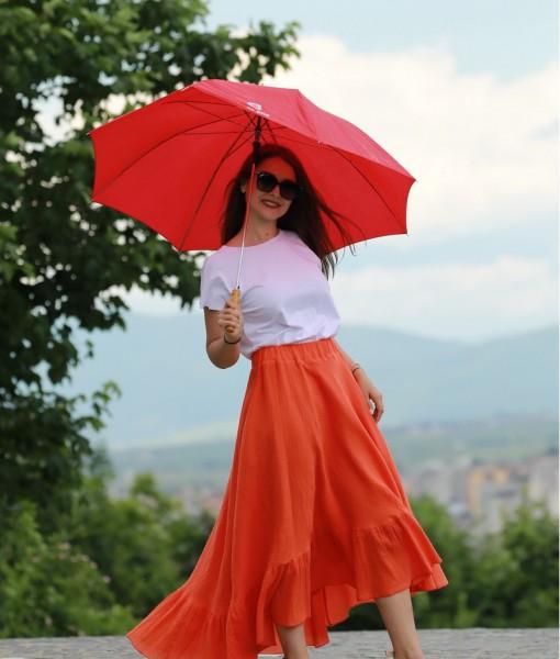 fusta-gipsy-din-panza-topita-portocalie