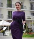 rochie-casual-mov-din-bumbac-cu-accesorizari-din-satin-negru (1)